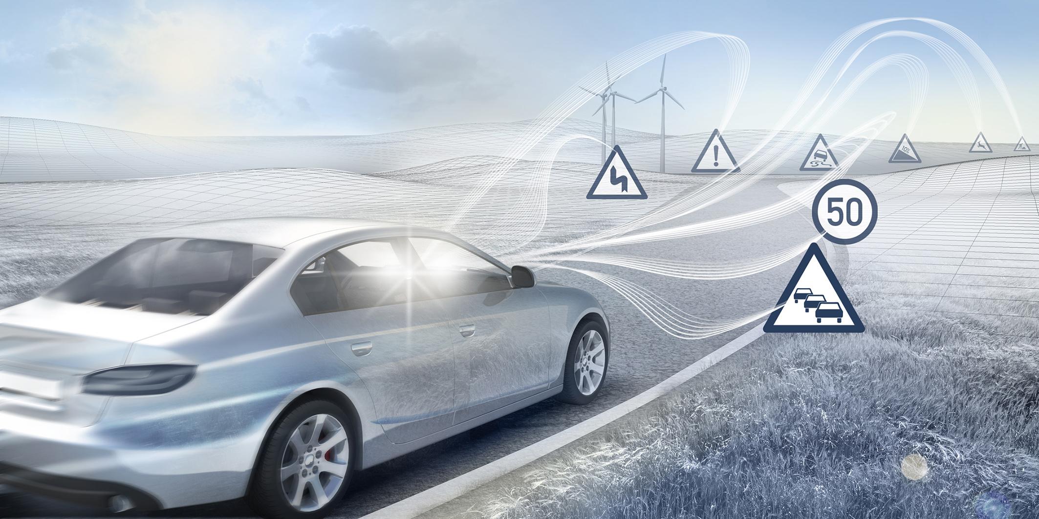 Automobily sa stávajú aktívnou súčasťou internetu Hardvér, softvér a riešenia v oblasti služieb Bosch pre pripojené automobily Konektivita je kľúčom k elektrifikovanému a automatizovanému šoférovaniu
