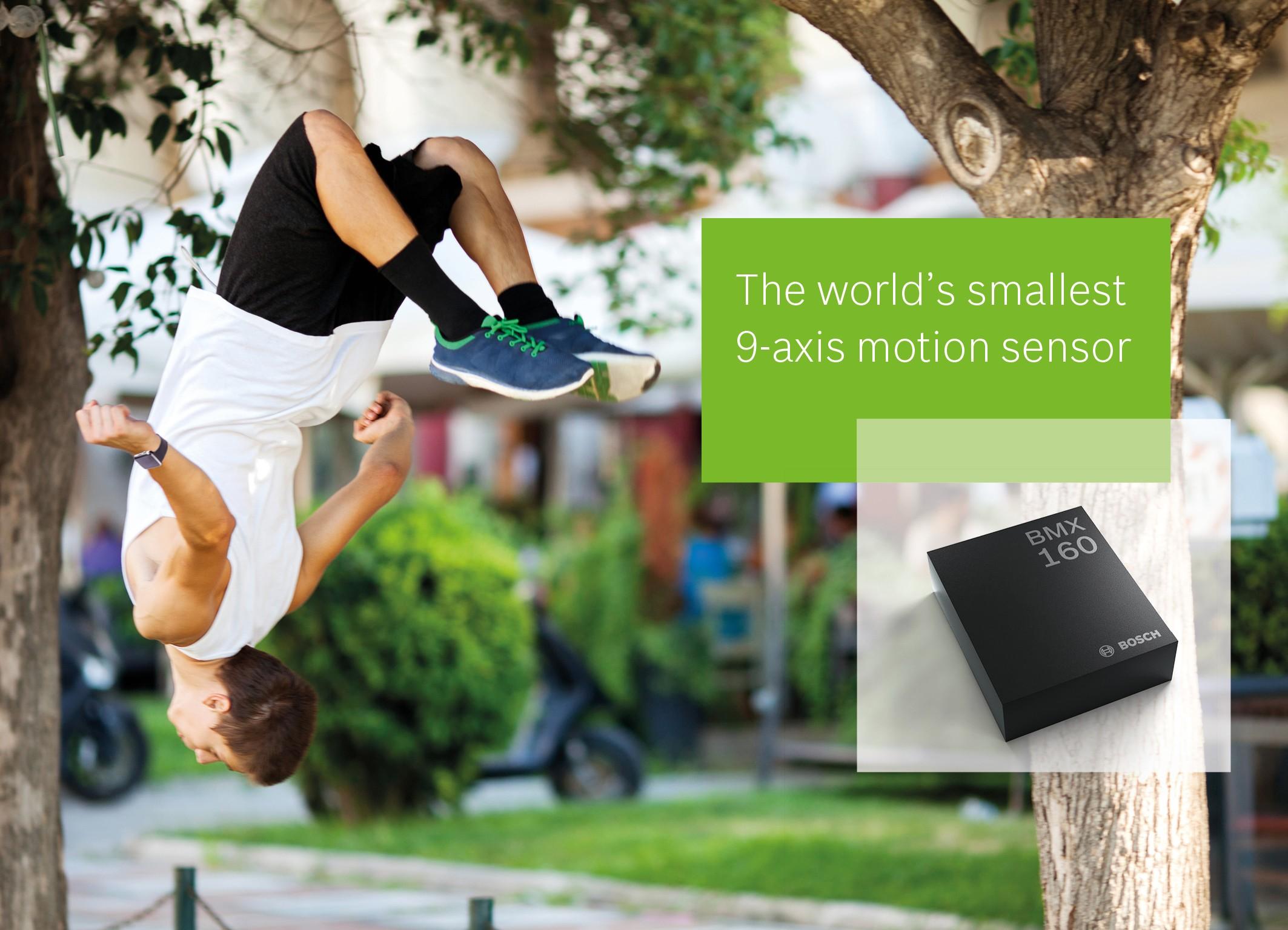 Senzor BMX160 MEMS Bosch Sensortec uvádza na trh svetovo najmenší 9-osový pohybový senzor Kompaktné vyhotovenie s nízkou spotrebou pre smartfóny, inteligentné hodinky a ďalšiu nositeľnú elektroniku
