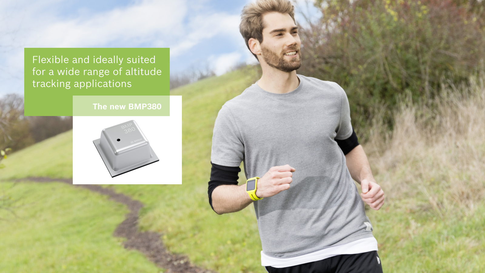 Bosch uvádza v rámci veľtrhu CES 2017 najmenší vysoko výkonný senzor barometrického tlakuPrvotriedny senzor nadmorskej výšky pre spotrebiteľské zariadenia