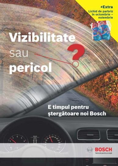Bosch lansează campania ''Vizibilitate sau pericol? E timpul pentru ştergătoare noi Bosch''