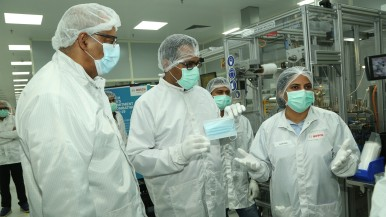 Bosch inaugurates fully automated production lines for protective face masks in India