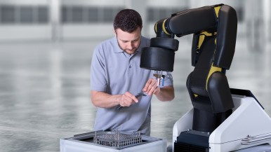 Bosch showcases contact-free collaborative robots for the flexible factory