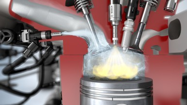 Water instead of gasoline: Bosch innovation re-duces fuel consumption by up to 13 percent