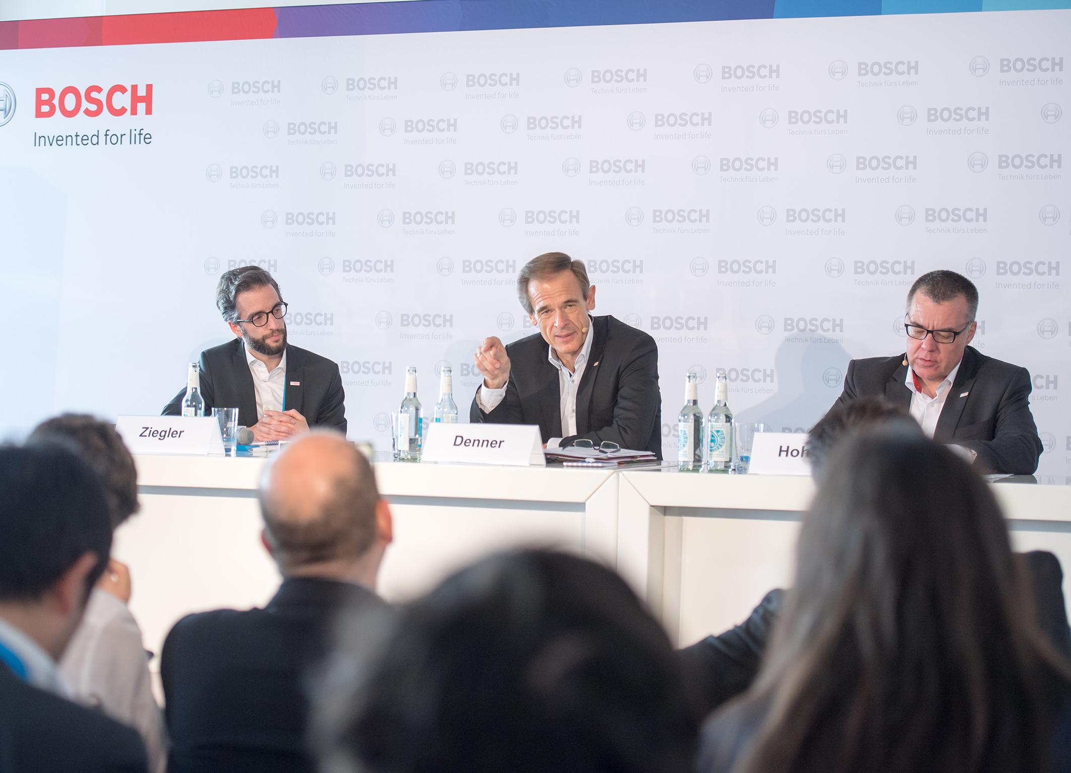Pressekonferenz auf der Bosch ConnectedWorld 2017