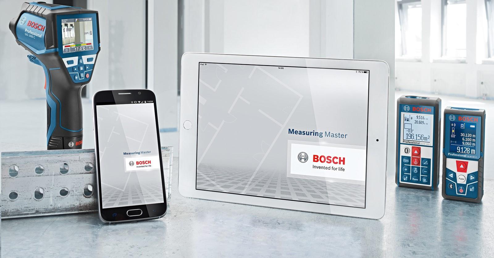 Laser Entfernungsmesser Glm 50 C Professional : Neue measuring master app von bosch für profis media service