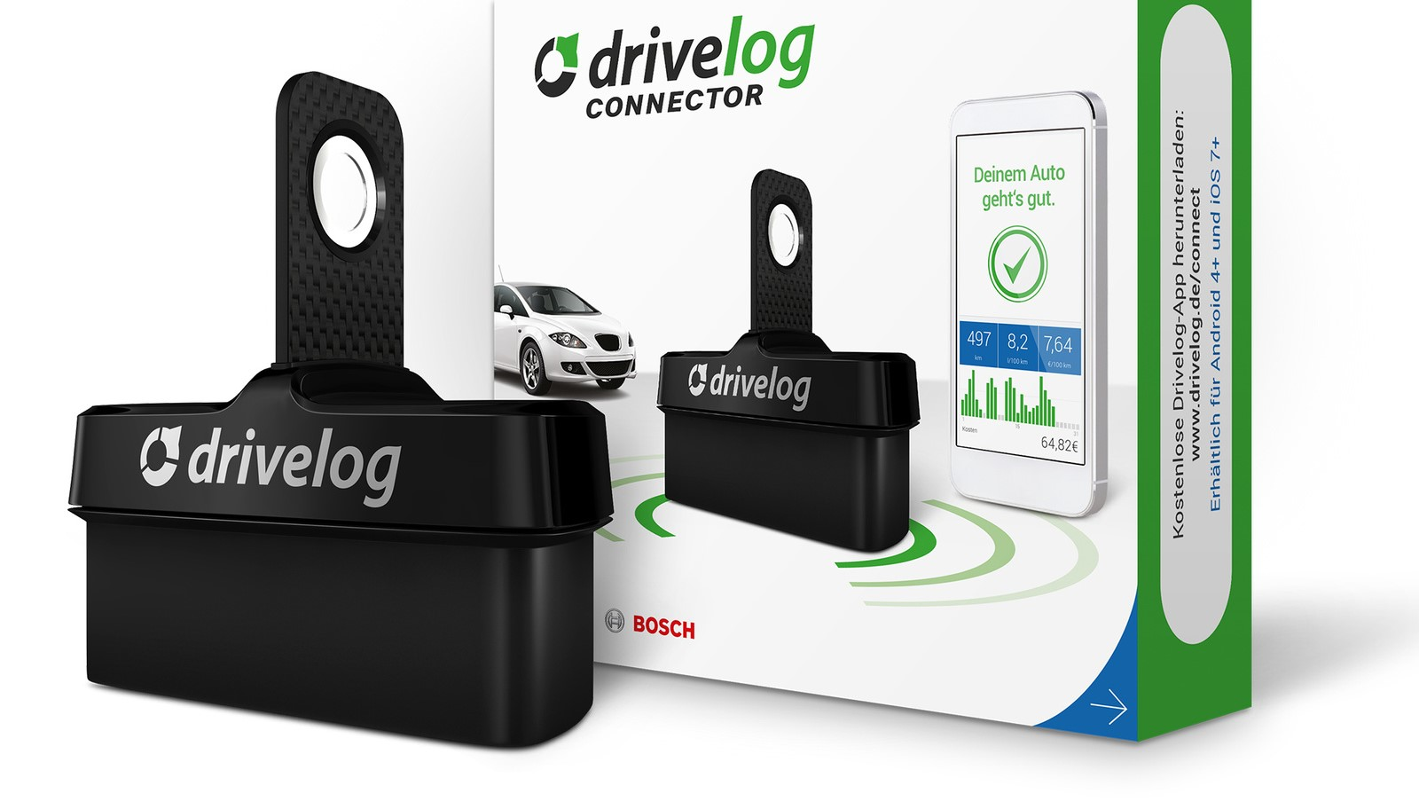 New: Drivelog Connect displays car-related information on
