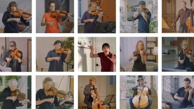 Mit Abstand klassisch: Stuttgarter Kammerorchester inszeniert Bosch Hip-Hop-Song